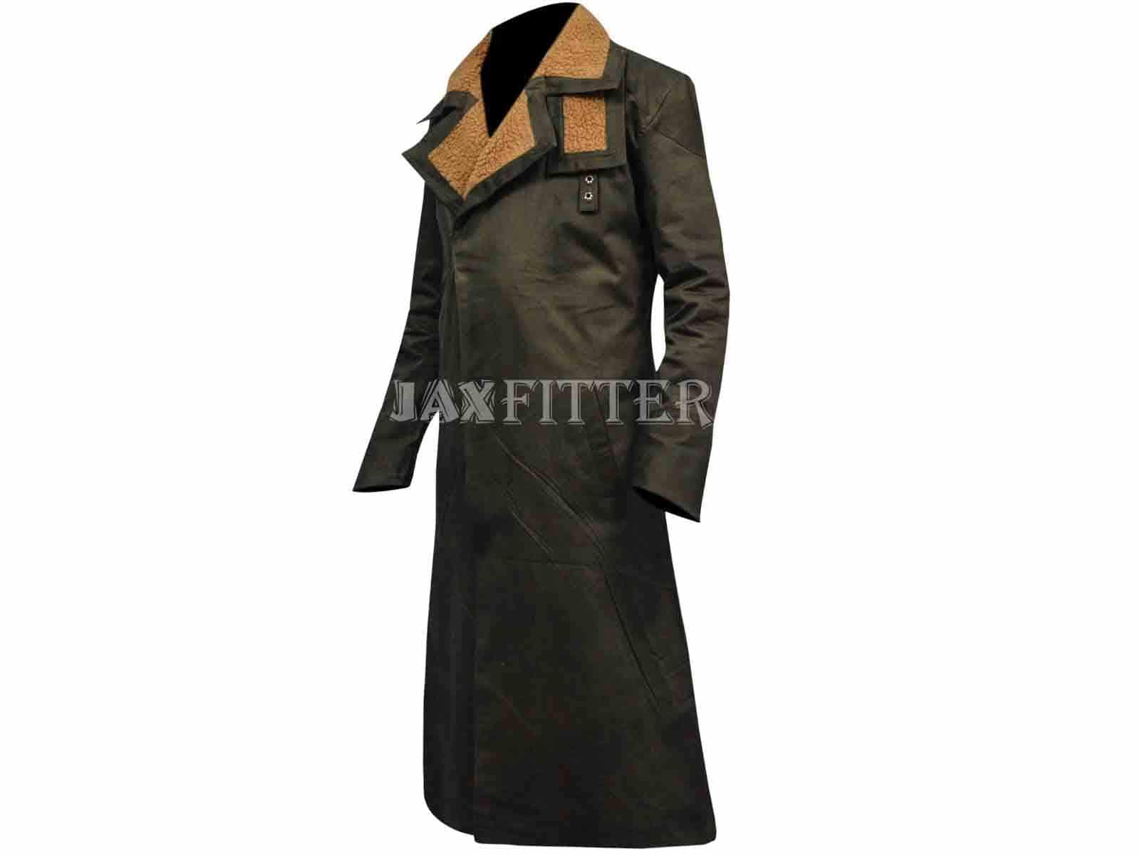 Ryan Gosling Blade Runner 2049 Cotton Black Trench Coat XXS 3XL